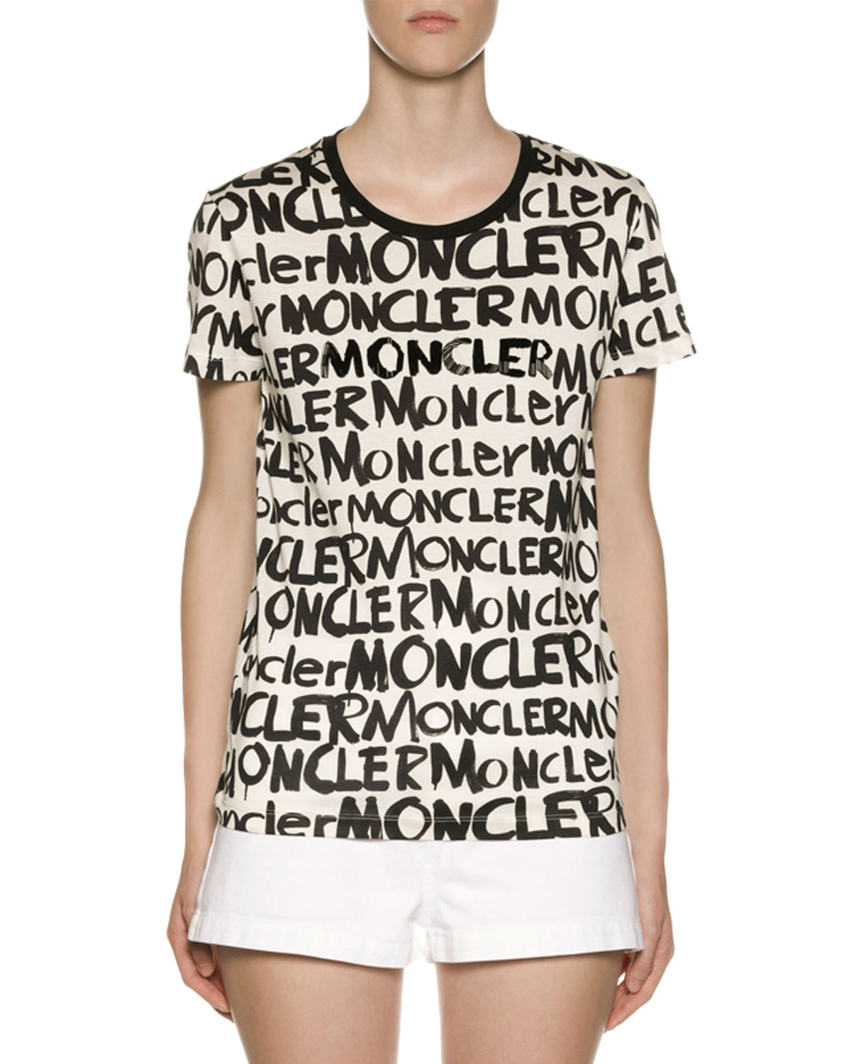 Graffiti Logo T Shirt by Moncler