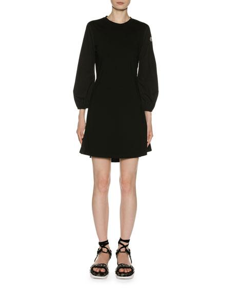Moncler Logo-Sleeve Short Dress
