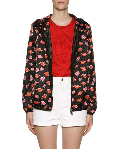 Moncler Vive Lip & Heart Raincoat
