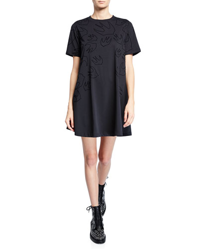 Babydoll Short-Sleeve T-Shirt Dress