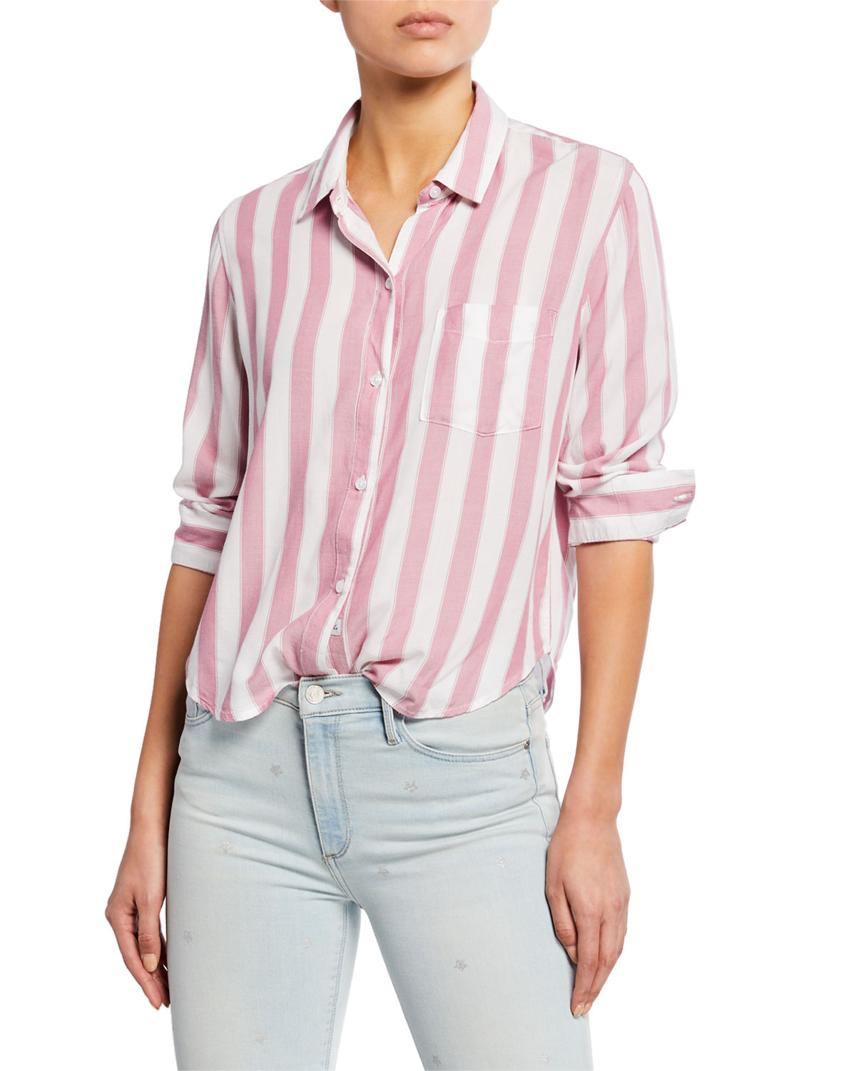 c30eaf07f6cc Rails Dana Striped Button-Down Long-Sleeve Shirt | Neiman Marcus