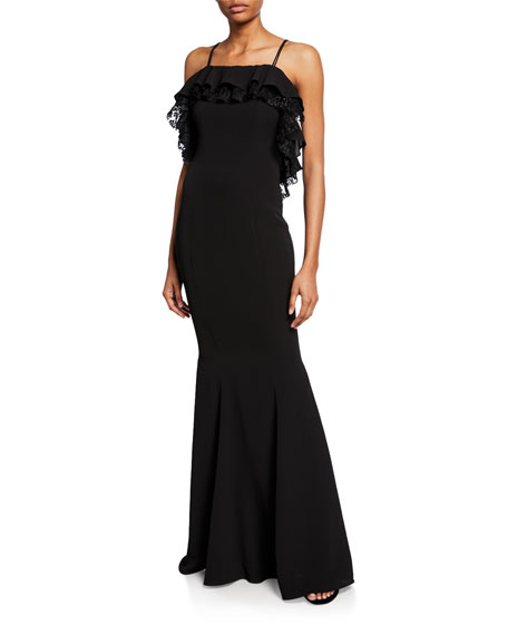ZAC Zac Posen Everly Low-Back Gown with Lace