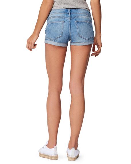 DL1961 Premium Denim Renee Cuffed Maternity Shorts