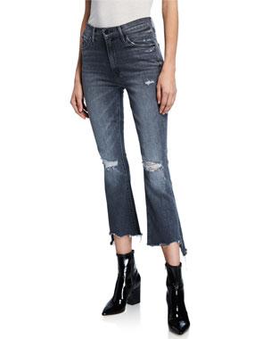 e45ed1e9a8f81 MOTHER The Insider Crop Step Chew-Hem Skinny Jeans