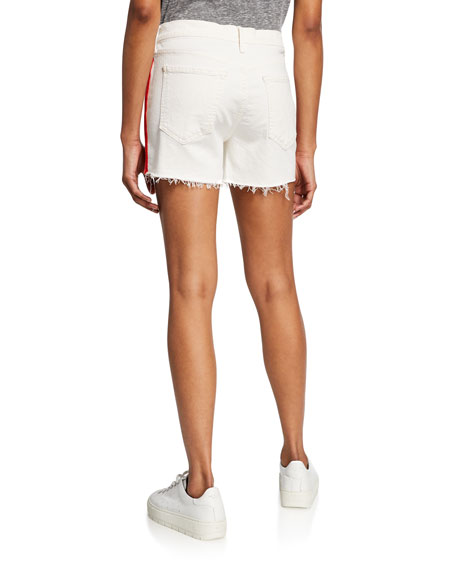 MOTHER The Sinner Frayed Shorts w/ Stripes