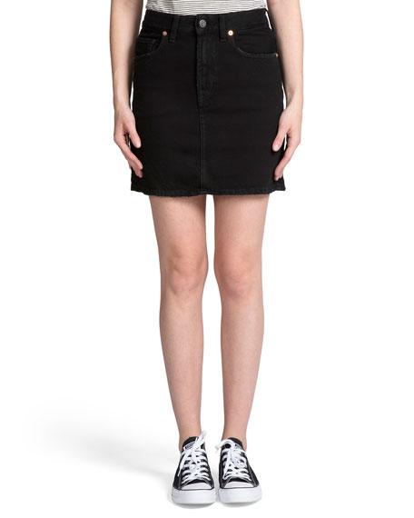 PRPS A-Line Denim Mini Skirt