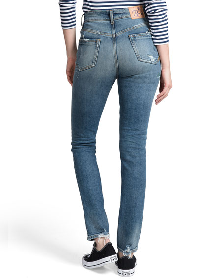 PRPS High-Rise Painted Straight-Leg Jeans
