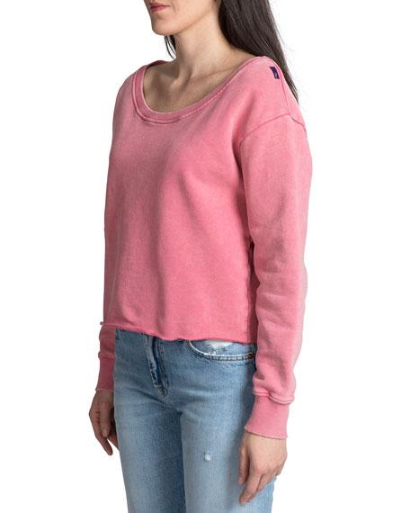 PRPS Off-the-Shoulder Long-Sleeve Cotton Pullover