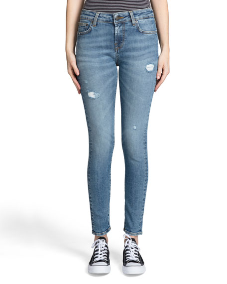 PRPS Camaro Mid-Rise Stretch Ankle Skinny Jeans