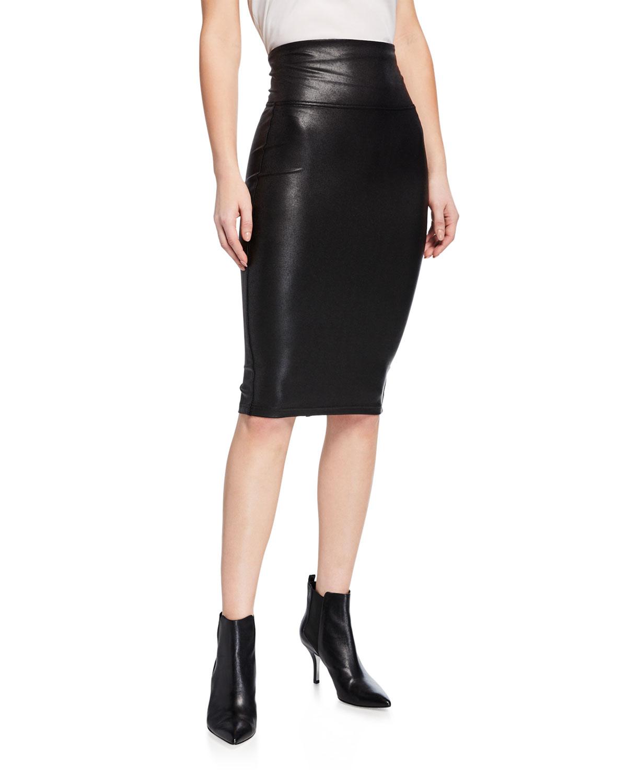 328893a36ea02 Spanx Faux-Leather Pencil Skirt | Neiman Marcus