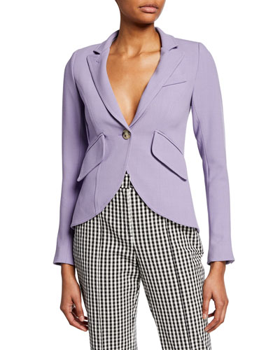 One-Button Fitted Blazer