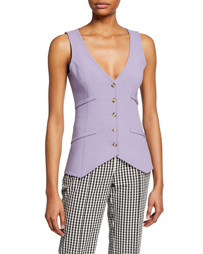 Fitted Button-Front Waistcoat