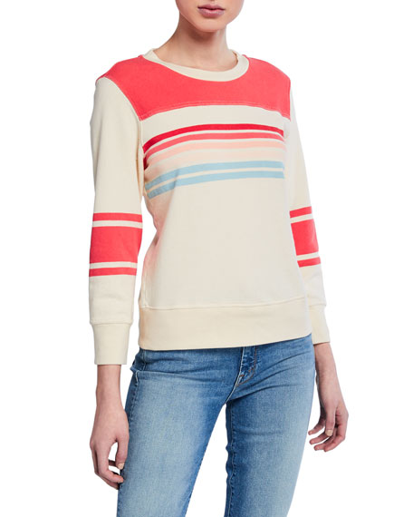 MOTHER The 1/2 & 1/2 Cotton Pullover Sweater