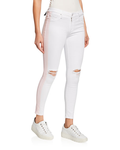 Black Orchid Jude Crop Mid-Rise Jeans w/ Tuxedo Stripes
