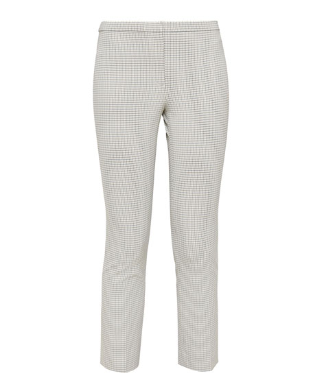 Theory Plaid Cropped Skinny Pants