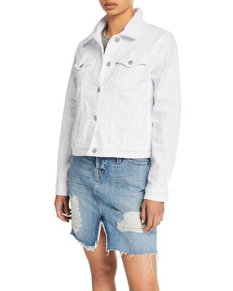 Hudson Ruby Contour Button-Front Stretch-Denim Jacket