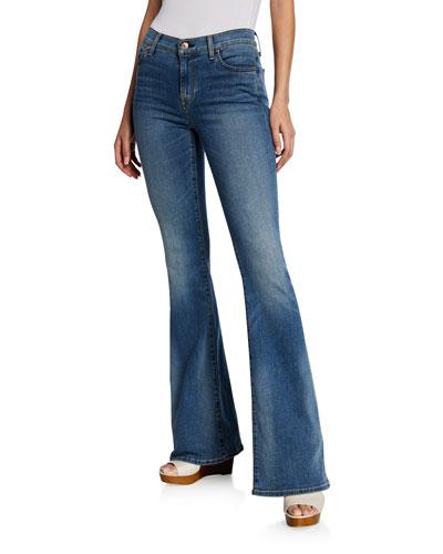 Ali High-Rise Medium-Wash Flared Denim Jeans