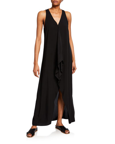 Galia V-Neck Sleeveless High-Low Maxi Dress