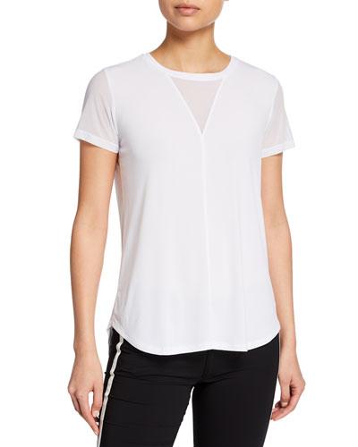 Mia Mesh Jersey Shirttail Top