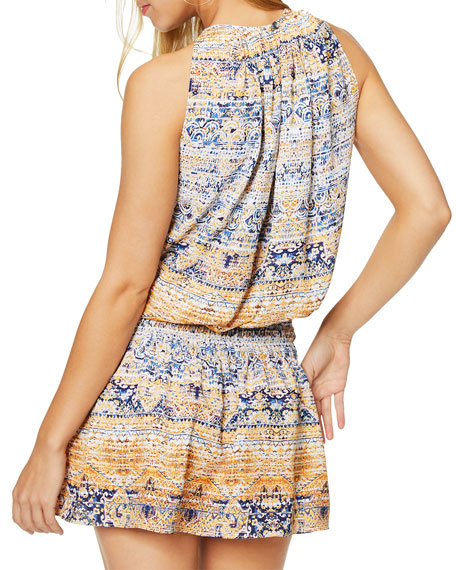 Ramy Brook Paris Printed Sleeveless Romper