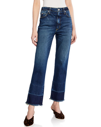 Bella High-Rise Jeans with Released Hem