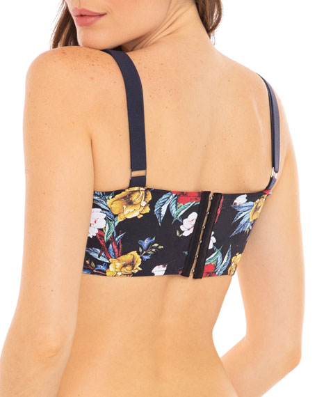 Revel Rey Riley Floral-Print Underwire Bikini Top