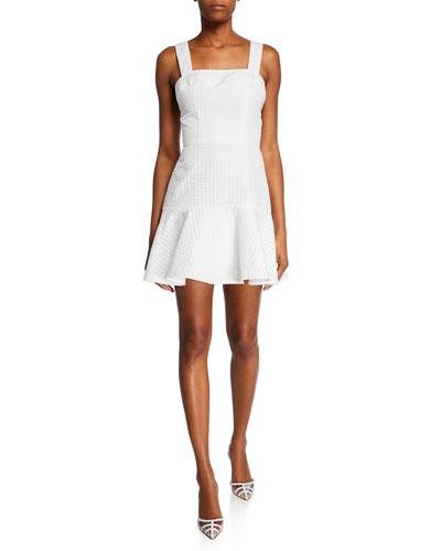 Annalise Sleeveless Gingham Short Dress