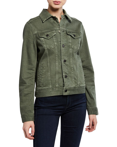 AG Mya Button-Front Denim Jacket