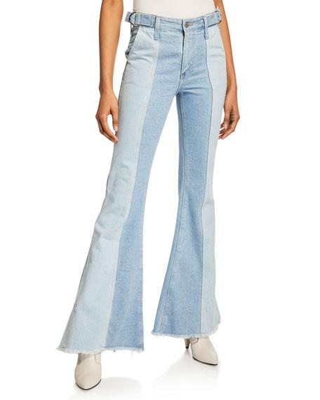 AG Iva Paneled Wide-Leg Jeans