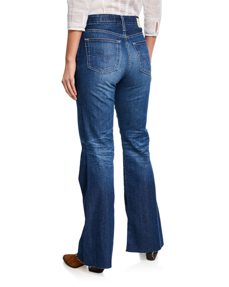 Image 2 of 3: AG Adriano Goldschmied Quinne High-Rise Flare Jeans