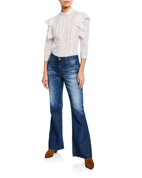 Image 3 of 3: AG Adriano Goldschmied Quinne High-Rise Flare Jeans