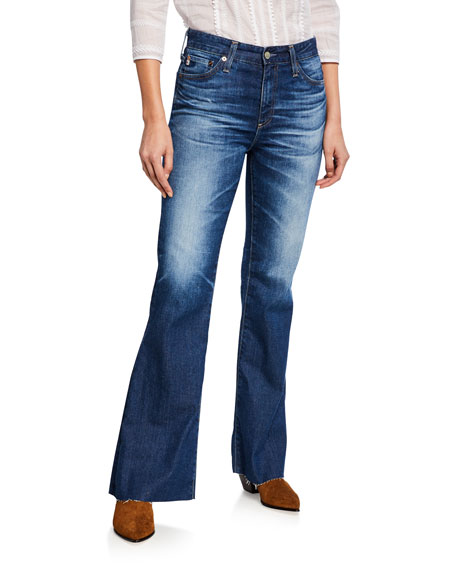 Image 1 of 3: AG Adriano Goldschmied Quinne High-Rise Flare Jeans