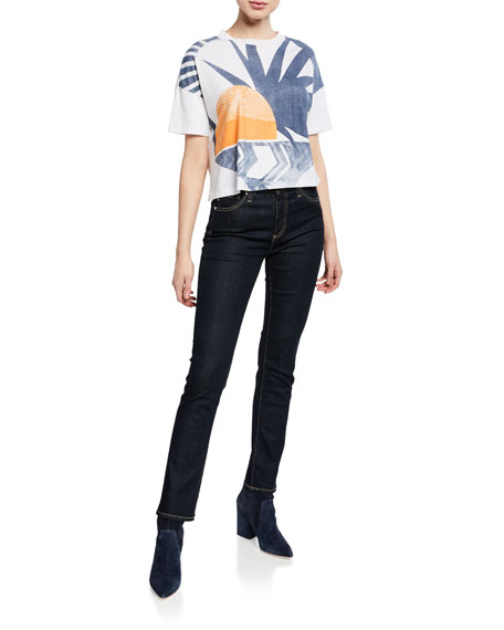 Image 3 of 3: AG Adriano Goldschmied Mari High-Rise Straight Jeans