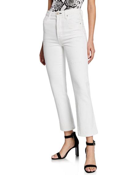 AMO Denim Chloe Crop High-Rise Jeans
