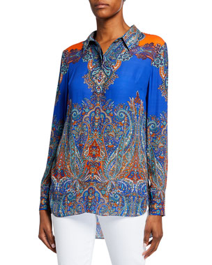 c48e8b1a Women's Button Down Shirts & Blouses at Neiman Marcus