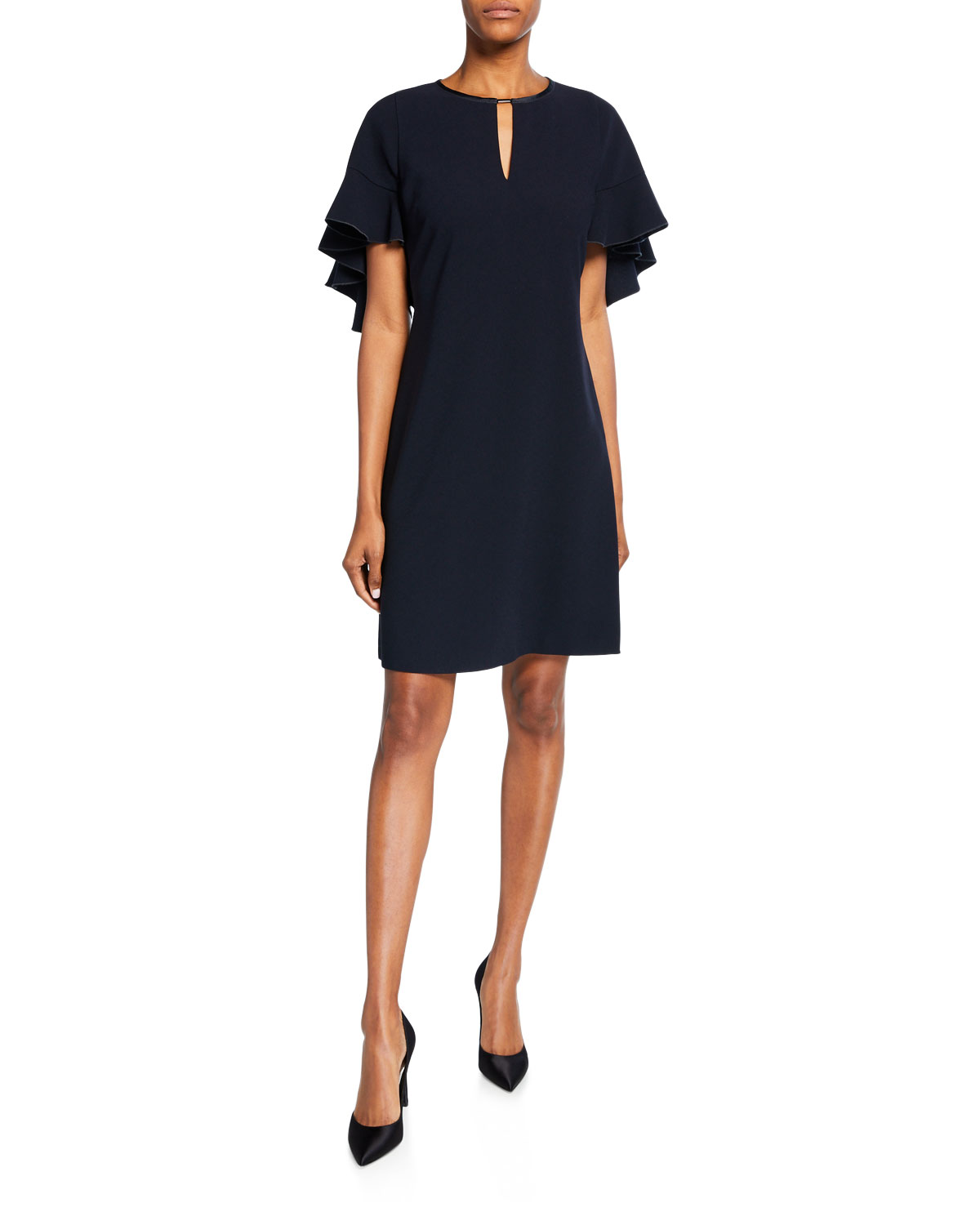 Theodore Flutter Sleeve Keyhole Dress by Elie Tahari