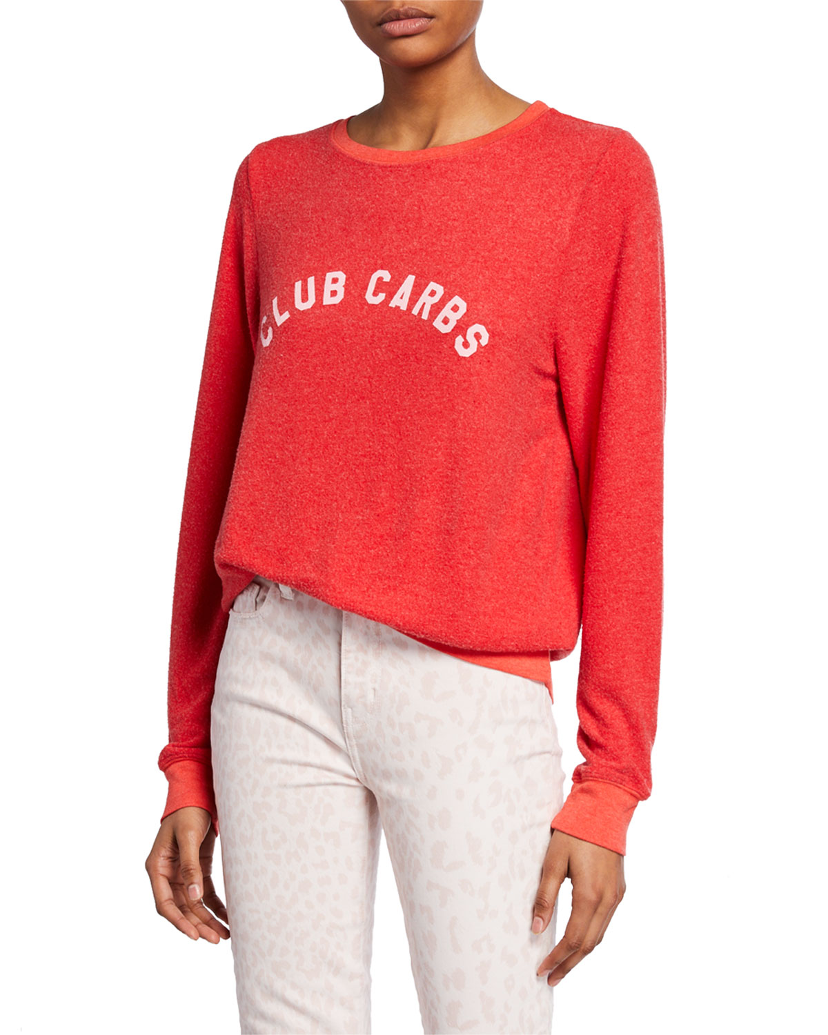 Wildfox Christmas Sweatshirt.Club Carbs Crewneck Long Sleeve Vintage Sweatshirt
