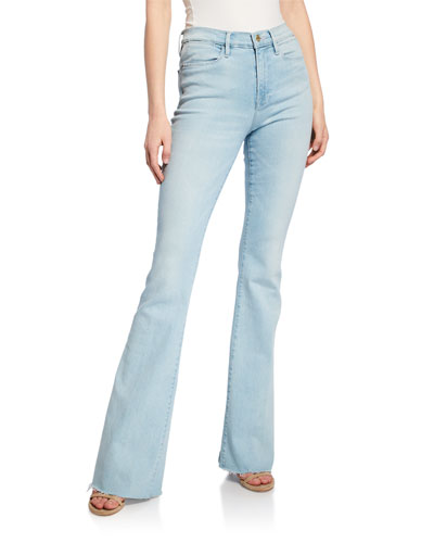Le High Flare Raw-Edge Jeans