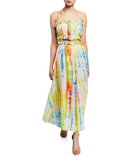 Tanya Taylor Honor Tie-Dye Sleeveless Maxi Dress