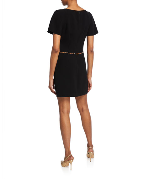 Rachel Zoe Nina Studded Short-Sleeve Dress