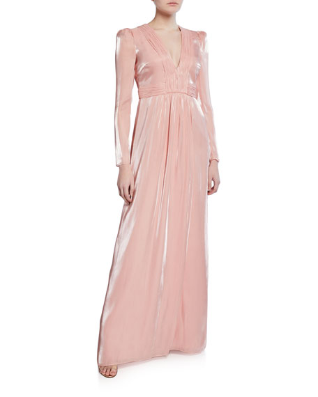 Image 1 of 2: Rosalie Liquid Chiffon Gown