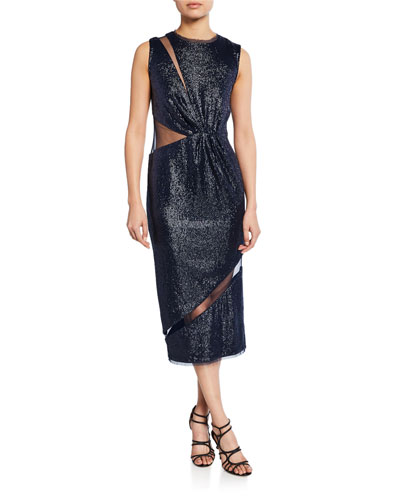 Lorraine Sequin Sleeveless Cocktail Dress