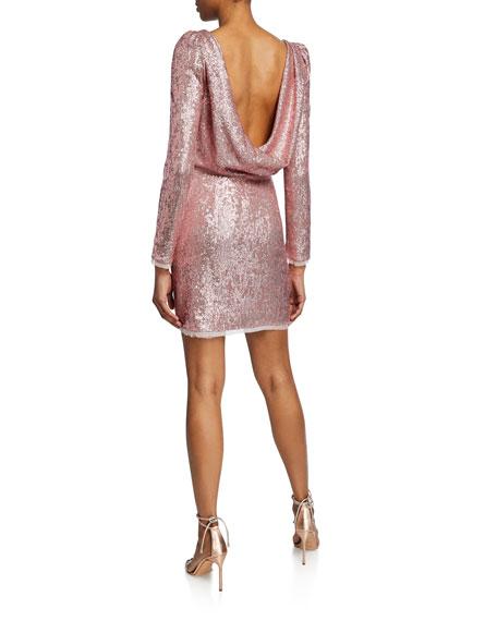 Rachel Zoe Cadence Open-Back Sequin Cocktail Dress