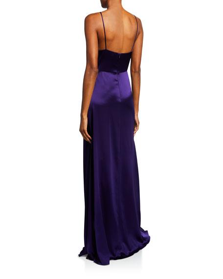 Jill Jill Stuart Satin Wrap Sleeveless April Slip Dress