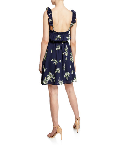 Cupcakes and Cashmere Lynette Floral Button-Front Dress