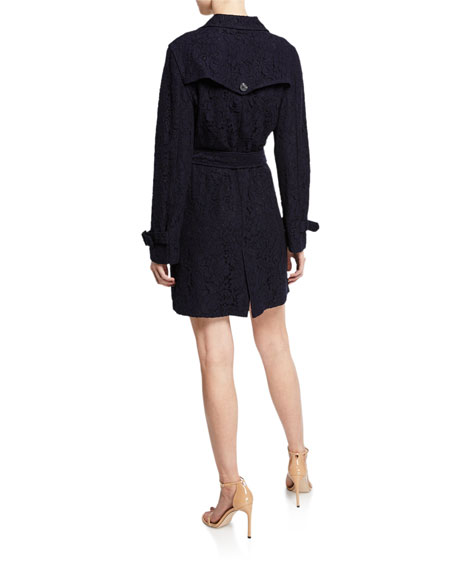 Cupcakes and Cashmere Aldean Lace Trench Coat