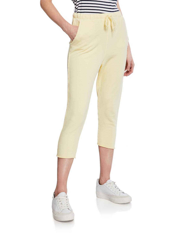 Frank & Eileen Tee Lab Cropped Raw-Edge Fleece Sweatpants