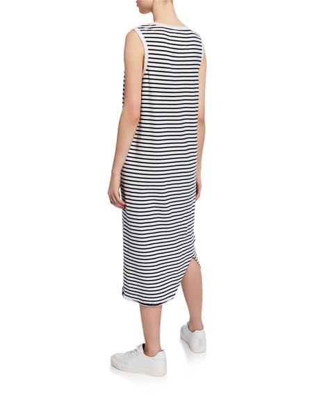 Frank & Eileen Tee Lab Striped Asymmetric Midi Tank Dress