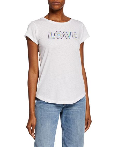 Zadig & Voltaire Love Graphic Short-Sleeve Slim Tee