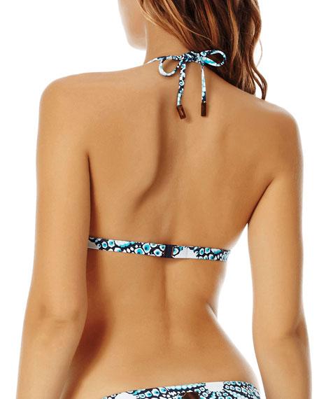 Vilebrequin Oursinade Printed Triangle Halter Bikini Top